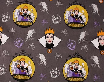 Half Yard Disney Villains Evil Queen Snow White Fabric Camelot Fabrics by the Half Yard