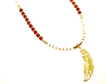 Long fsu necklace | fsu long feather necklace | Florida State jewelry | Florida State long necklace | FREE SHIPPING in US
