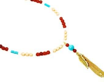 Long fsu necklace | fsu long tassel necklace | Florida State jewelry | Florida State long necklace | FREE SHIPPING in US