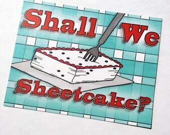Shall We Sheetcake? Tina Fey Invitation or Note Card