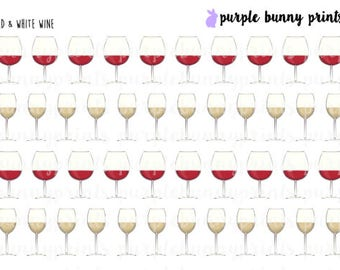Wine Glass Icons // Planner Stickers!