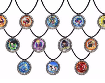 12x Beyblade Burst Party Favor necklaces