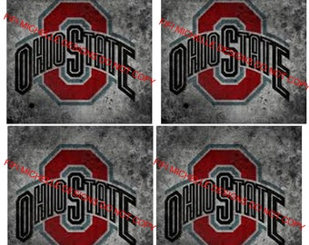 Instant Download|| Ohio State Buckeyes|| 4x4 Collage Sheet|| Coasters
