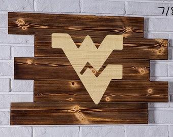 West Virginia Mountaineers Wood Sign West Virginia Mountaineers Wall art West Virginia Mountaineers Gift West Virginia Mountaineers