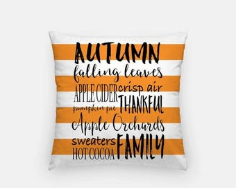 SALE Autumn Throw Pillow Cover