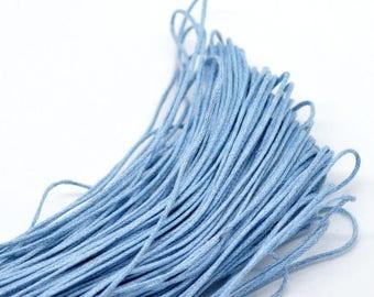 5 meters of cord wax color Bleu1mm - MB18558