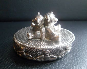 Kitney & Co Silver Coloured Teddy Ring Box