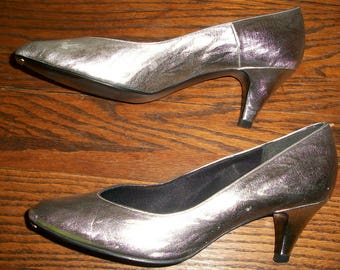 1980's Silver Night Life Pumps or Heels
