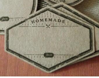 Digital Vintage blank canning labels kraft paper, mason jar labels, labels for canning, blank jar labels, printable labels, jam labels