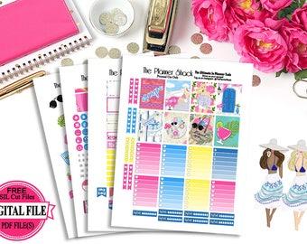 Escape // Erin Condren // Printable Planner Stickers // Planner Printables // Vacation // Summer // Planner Stickers // Printables