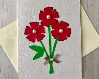 Handmade Floral Love Card