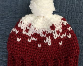 Ready to ship! Ski hat with pompom