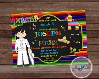 Fiesta Party Invitation for Boy, Fiesta Birthday Invitation, Fiesta Birthday Party Invitation, Fiesta Mexicana Invitation, Mexican Fiesta