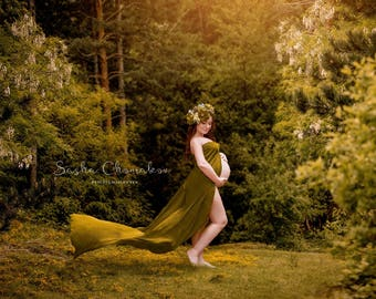 digital backdrop maternity forest fairy tail