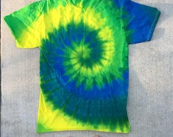 Tie Dye Spiral T Shirt
