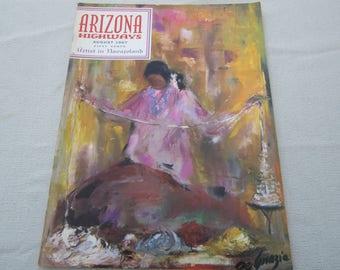 1967 Arizona Highways, Navajo Indians, Artist in Navajoland, American Art, Ted DeGrazia, Arizona History, Rainbow Bridge, Indian Paintings