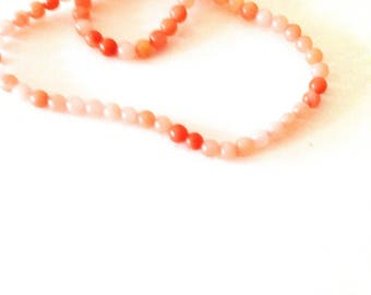 set of 50 nuanced pink beads