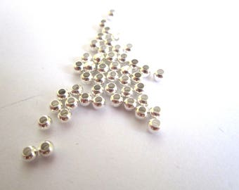 set of 50 silver metal beads and round 3MM