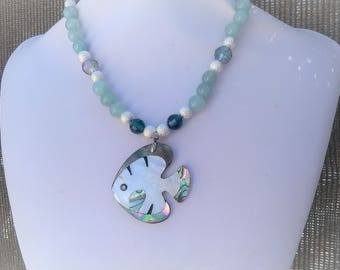 NECKLACE MOTHER OF PEARL FISH