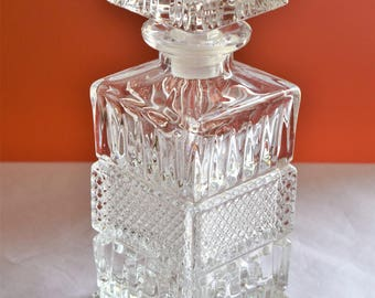 Vintage Glass Liquor Decanter/ Liquor Glass Decanter/ Barware