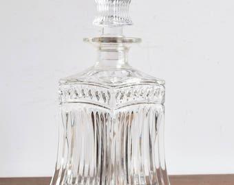 Vintage Glass Liquor Decanter/ Liquor Glass Decanter/Barware