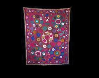 Vintage Uzbek silk embroidery