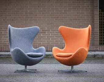 Vintage Arne Jacobsen for Fritz Hansen Egg Chairs w/ tilt control (two available)