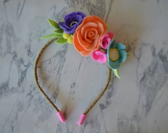 Neon Floral Headband