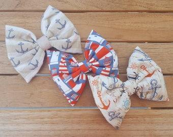 Anchor bow, lighthouse bow, nautical, Anchor, hair bow, ocean, sailboat