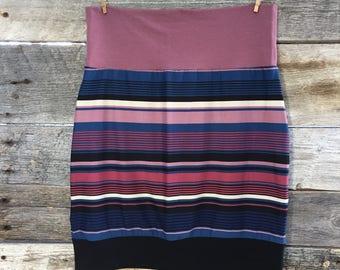 "Ready to ship * skirt woman ""MAEVA"" black background - brushed Polyester - size Small - Medium (SM)"