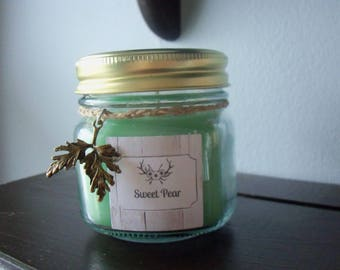Sugared Pear Scented Jar Candle