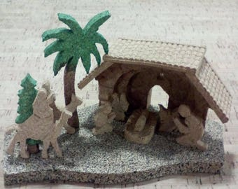 Handmade crib in cork,portuguese natural cork.