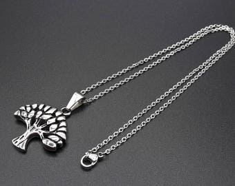 necklace Tree of Life - Stainless Steel - woman Jewelry - woman Gift -