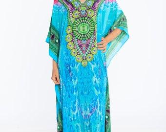 kaftan, digital print kaftan, caftan dress, plus size dress, beach kaftan dress free size dress in pink maxi caftans