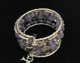 Purple rain memory bracelet