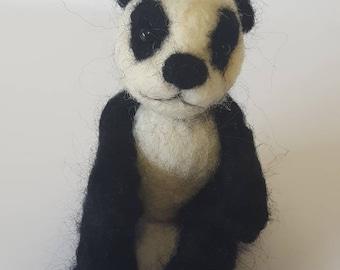 Super cute needle felted panda
