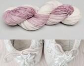 Purity | Hand Dyed Yarn | Pink Tonal Yarn | Fingering Weight | Shawl Yarn | Sock Yarn | Worsted Yarn| Aran Yarn