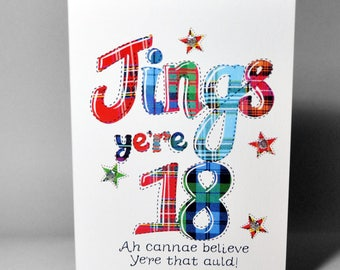 Scottish Jings 18 Card WWBI108