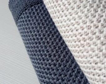 Merino wool baby blanket-Natural baby blanket-Newborn blanket-Pattern throw