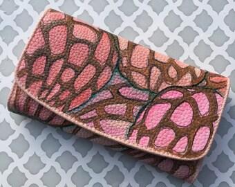 Concha pink crossbody ooak custom art -purse wallet phone case pan dulce sweet bread mexican bread cute unique gift