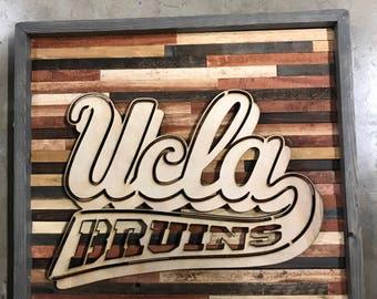 Rustic Decore UCLA wall art