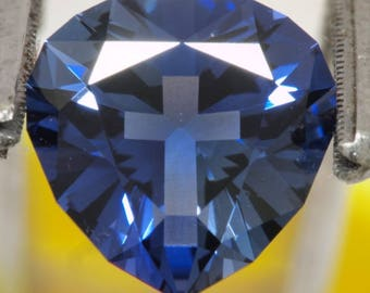Stunning 7ct 'Heart and Soul' Lab created Sapphire
