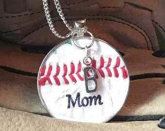 SALE Baseball Mom Jewelry, Baseball Mom Necklace, Baseball Team Gifts, Personalized Baseball Jewelry, Personalized Mom Baseball Necklace