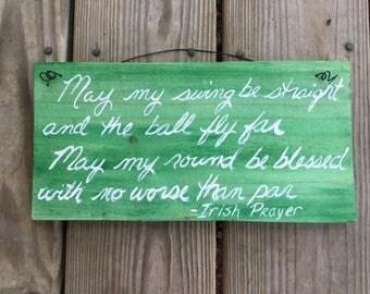 Golfer's Prayer - Golf Sign - Golf Gift - Father's Day Gift - Golfer's Gift - Golf Decor