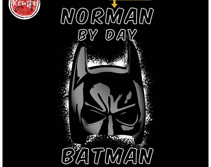 Custom BATMAN BY NIGHT T-Shirt Your Name By Day