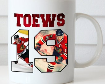 Jonathan Toews Coffee Mug, Chicago Blackhawks, Toews 19