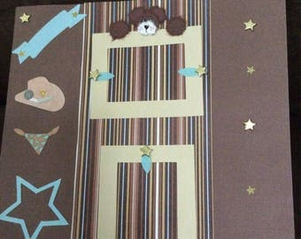 COWBOY 2 Page 12x12 Premade SCRAPBOOK PAGES!