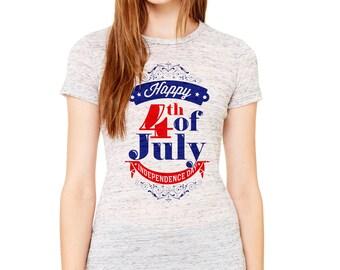 Happy 4th of July Women's  Short Sleeve Tee