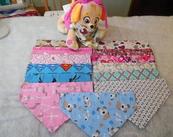 Dog Bandana-Large-Pet Bandana-Over the Collar Bandana-Reversable-Dog Neckwear-Dog Scarf-Novelty Pet Fashion-Slide On