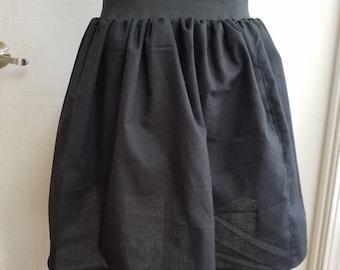 High - waist - elastic  - pinup  - rockabilly  - punk - semi - circle - skirt
